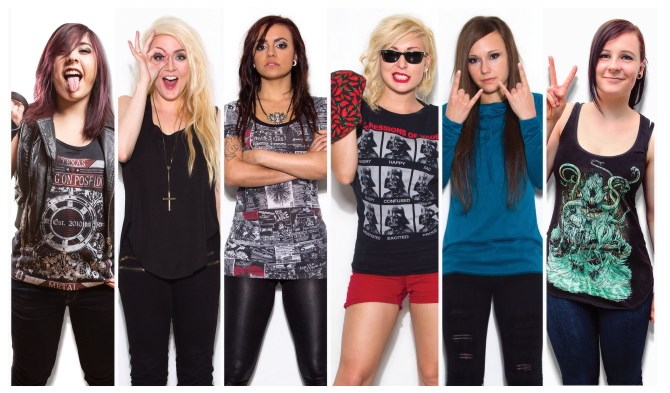 Conquer Divide is (from left to right): Janel, Kristen, Kiarely, Sarah, Tamara and Izzy