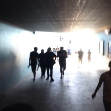 The tunnel before entering the venue