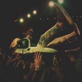 Crowd surfer during Shattered Sun