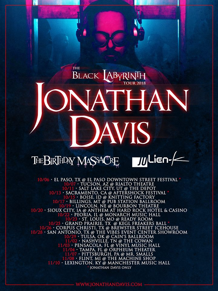 Jonathan Davis - 2018 Tour