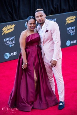 Todd Dulaney & Wife at the 34th Stellar Awards held at Orleans Arena, Las Vegas on March 29, 2019 in Las Vegas, NV, USA (Photo by: Mike Ware/Sipa USA)