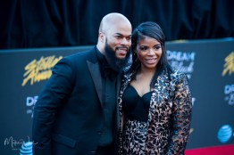 JJ Hairston and his Wife Trina Hairston at the 34th Stellar Awards held at Orleans Arena, Las Vegas on March 29, 2019 in Las Vegas, NV, USA (Photo by: Mike Ware/Sipa USA)