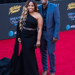 EJ & Janice Gaines at the 34th Stellar Awards held at Orleans Arena, Las Vegas on March 29, 2019 in Las Vegas, NV, USA (Photo by: Mike Ware/Sipa USA)