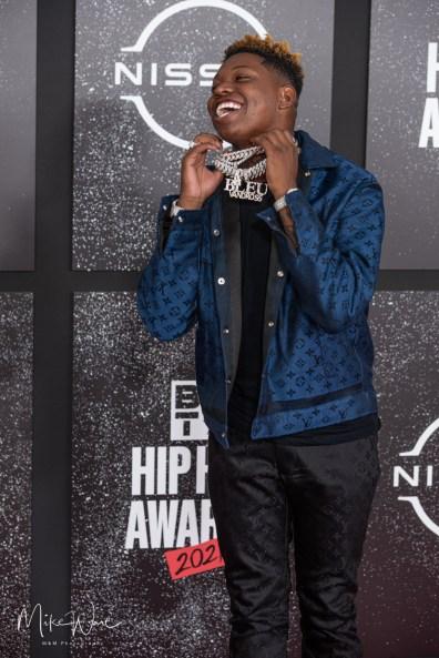 Yung Bleu - Rapper/Singer/Songwriter on the Red Carpet, 2021 BET Hip Hop Awards Atlanta, Ga. 10-1-21 (Photo By: Mike Ware/SIPA USA)