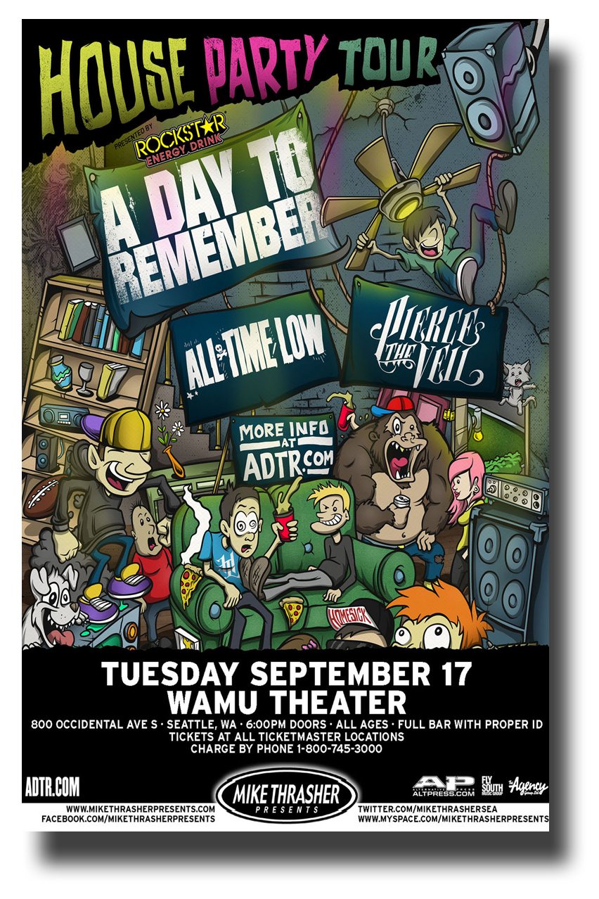 a day to remember poster adtr concert w