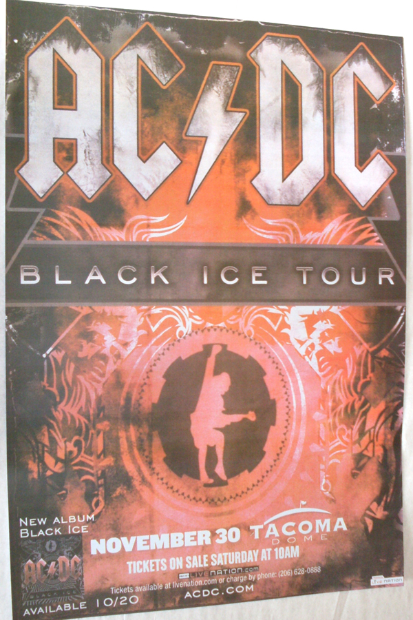 AC/DC Black Ice Concert Poster