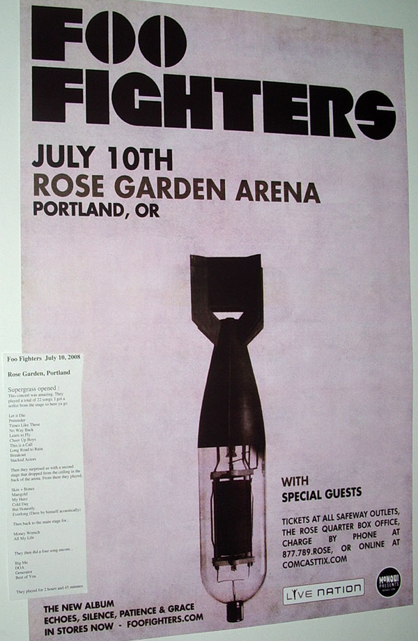 Foo Fighter 2008 Tour Poster