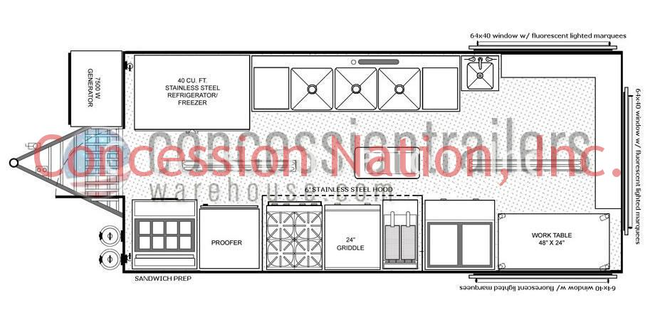 Concession Food Trailers For Sale| Food Vending Trailer