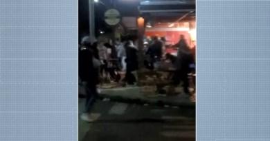 Guarda Municipal dispersou briga em bar de Mogi Guaçu no domingo — Foto: Reprodução/EPTV
