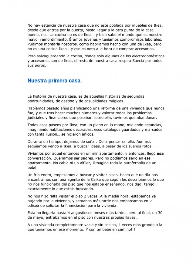 Extracto de la carta de amor para Ikea y Madresfera, como propuesta al concurso CasasConHistoria, pagina 2