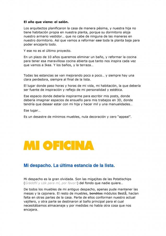 Extracto de la carta de amor para Ikea y Madresfera, como propuesta al concurso CasasConHistoria, pagina 4