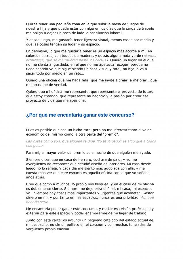 Extracto de la carta de amor para Ikea y Madresfera, como propuesta al concurso CasasConHistoria, pagina 6