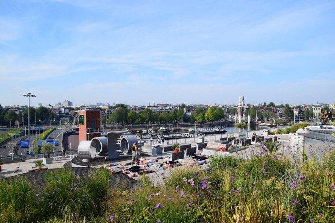 Vistas de la terraza del museo Nemo, visita obligada si vas a pasar 2 o 3 días en Amsterdam