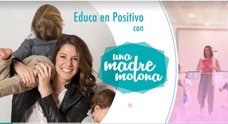 Portada del curso Educa en Positivo de Una madre molona, un curso online sobre disciplina positiva