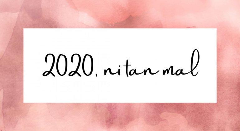 Banner rosa con el título 2020 ni tan mal