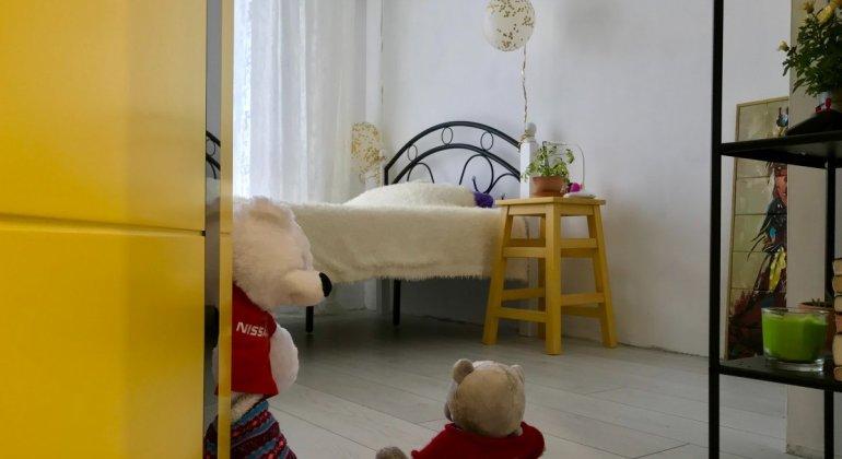 Habitación infantil preparado para el descolecho, para