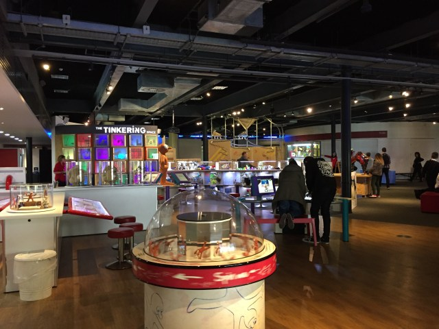 At-Bristol Science Center's animation exhibits area.