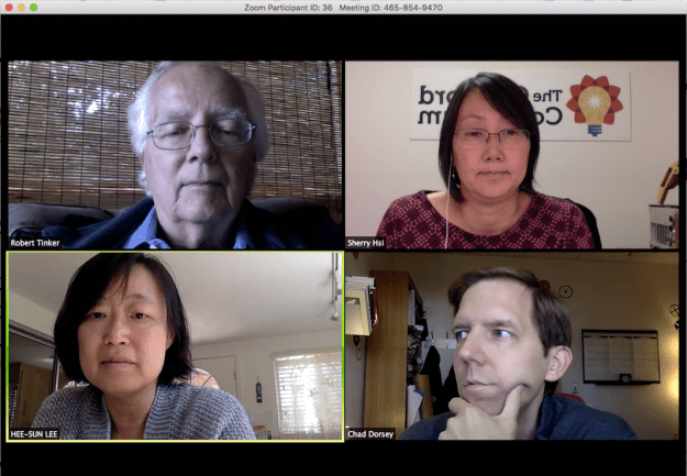 A typical web video conference