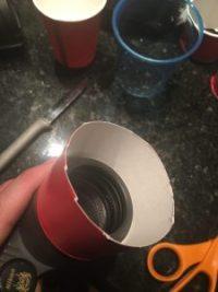 Binocular paper cup filter attachment