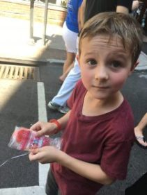 Hot kid with popsicle