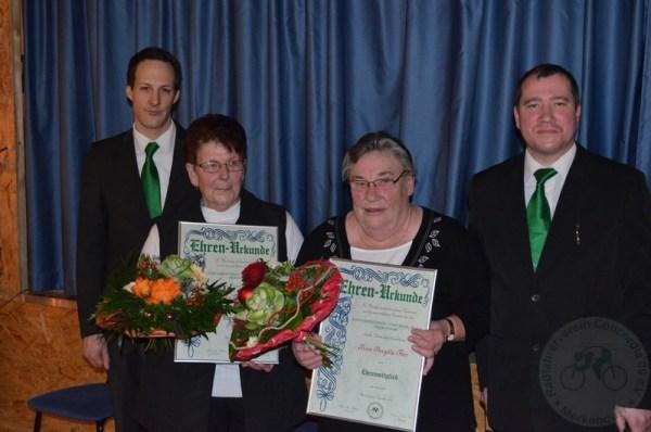 Elke Pfister (li.) und Brigitte Ther wurden für ihre besonderen Verdienste zu Ehrenmitgliedern ernannt