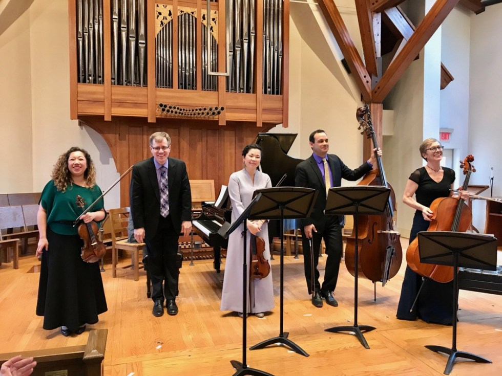 Concordia Chamber Players take a bow.