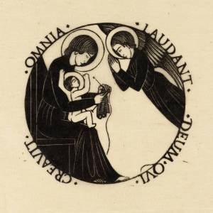Madonna and Child with Angel 1916 by Eric Gill 1882-1940