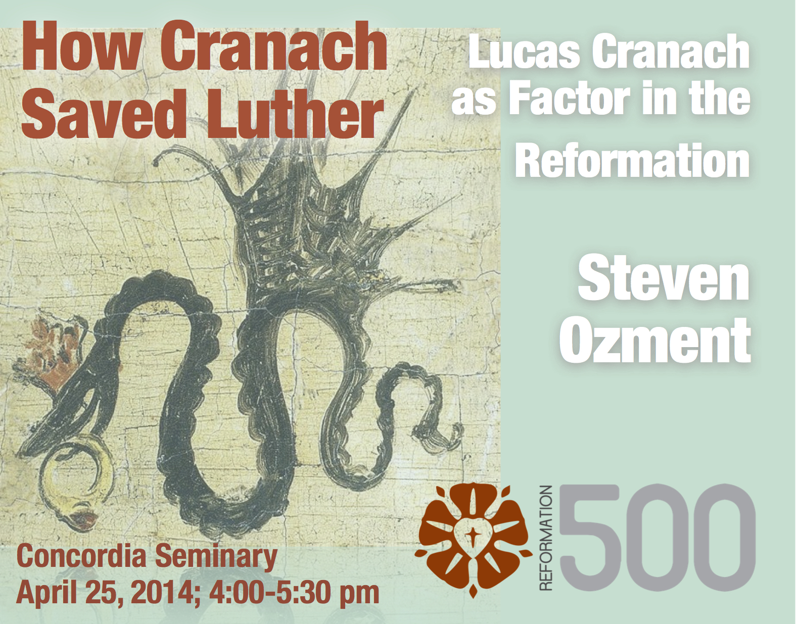 Steven Ozment to lecture on Luther and Cranach
