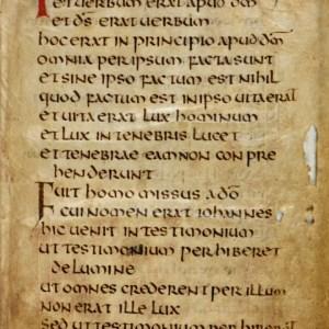 Cuthbert Gospel John 1