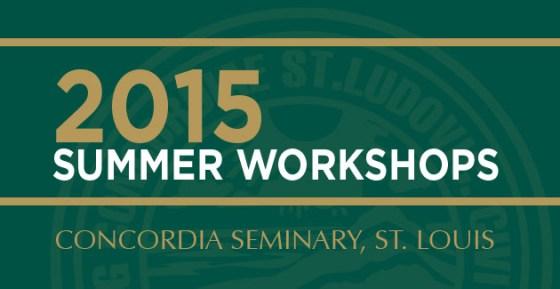 2015 summer workshops