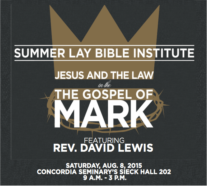 Gospel of Mark to be focus of next Lay Bible Institute