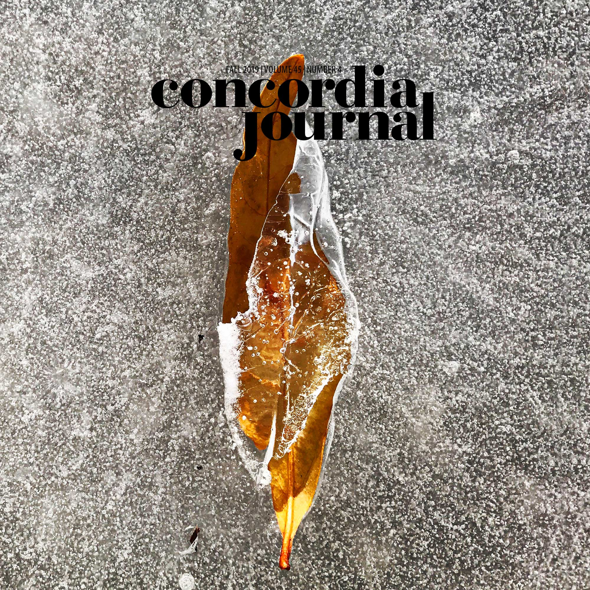 Concordia Journal, Winter 2020