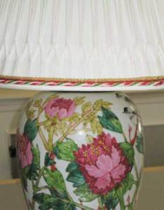 We can add trims to compliment the colors in your lamp or room décor
