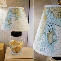 Nautical Chart Lamp Shades