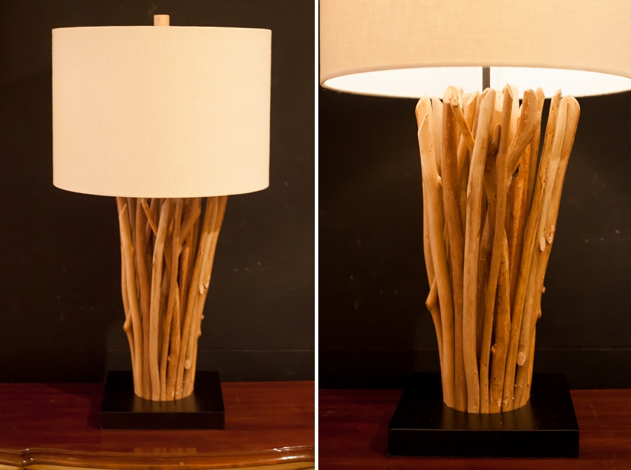 Wood lamp collage