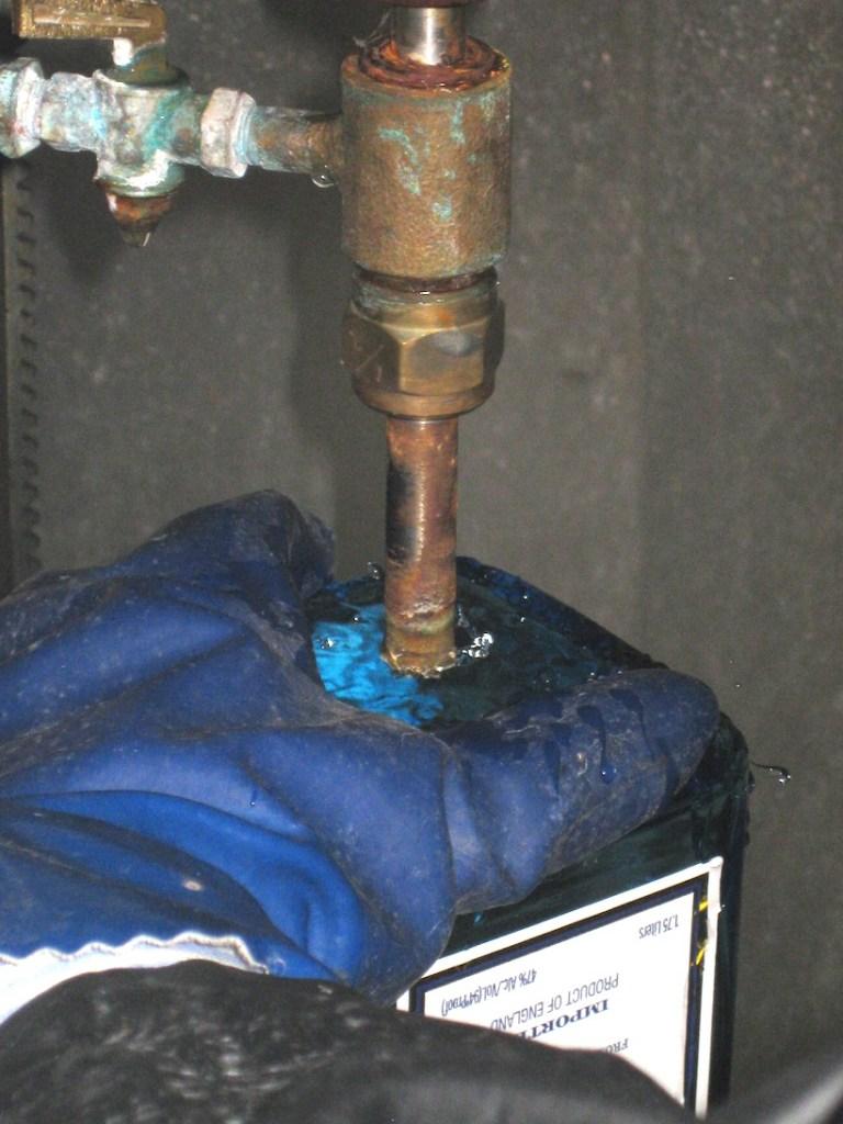 bottle being drilled