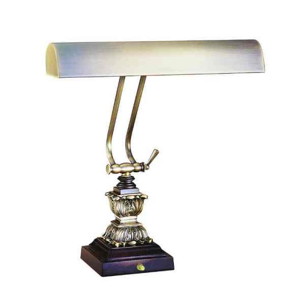 "14"" Antique Brass/Chestnut Bronze Piano/Desk Lamp"