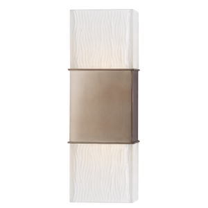 282-BB_Hudson Valley Aurora 2-Light Wall Sconce in Frosted Glass with Brushed Bronze Accents