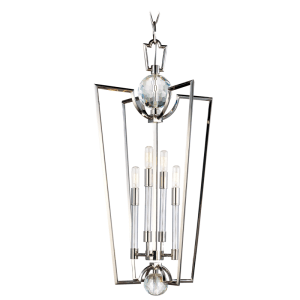 3017-PN_Hudson Valley Waterloo Chandelier and Pendant in a Polished Nickel Finish