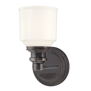 3401-OB_Hudson Valley Windham Single Light Bath Sconce in an Old Bronze Finish