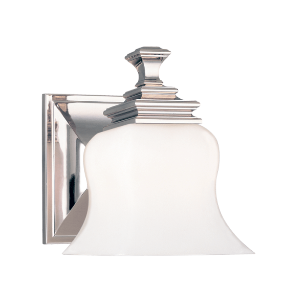 5501-PN_Hudson Valley Wilton Single Light Bath Sconce in a Polished Nickel Finish