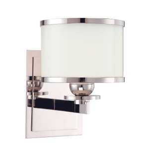6101-PN_Hudson Valley Basking Ridge Single Light Bath Sconce in a Polished Nickel Finish