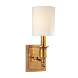 7501-AGB_Hudson Valley Whitney Single Light Wall Sconce in an Aged Brass Finish