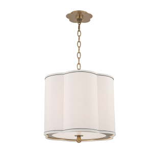7915-AGB_Hudson Valley Sweeny 3-Light Pendant with Aged Brass Accents