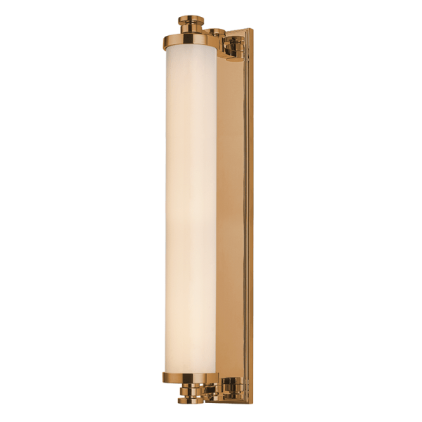 9714-AGB_Hudson Valley Sheridan Single Light LED Bath Light Bar in an Aged Brass Finish