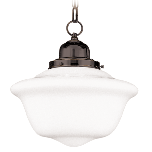 1612-OB_Hudson Valley Edison Single Light Pendant in Opal Glass with Old Bronze Accents
