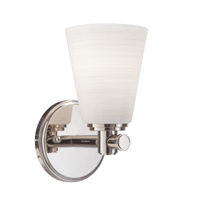 1841-PN_Hudson Valley Garland Single Light Bath Sconce in a Polished Nickel Finish
