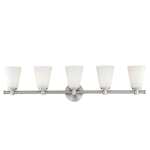 1845-PN_Hudson Valley Garland 5-Light Bath Sconce in a Polished Nickel Finish
