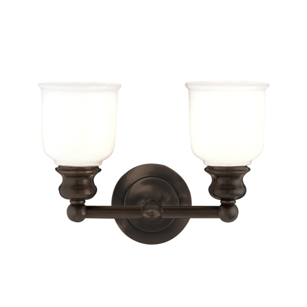 2302-OB_Hudson Valley Riverton 2-Light Bath Sconce in an Old Bronze Finish