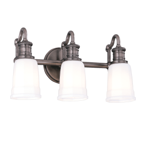 2503-AN_Hudson Valley Bradford 3-Light Bath Sconce in an Antique Nickel Finish
